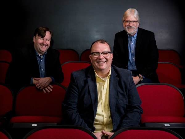 Circle Theatre's Tim Long, Matthew Gray, and Bill Newberry