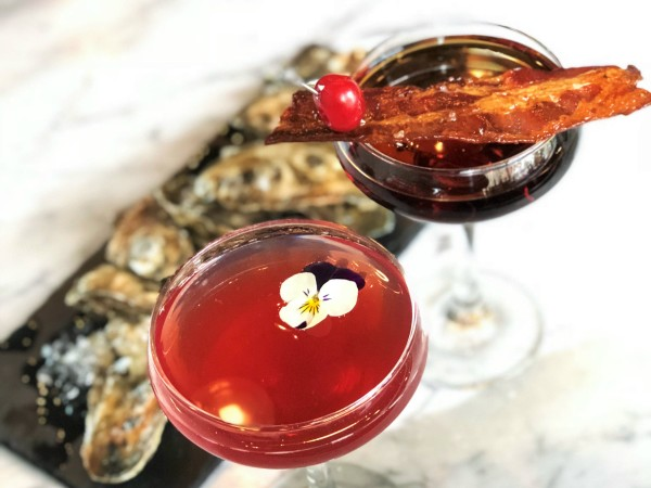 Oysters and martinis, Dallas Fish Market