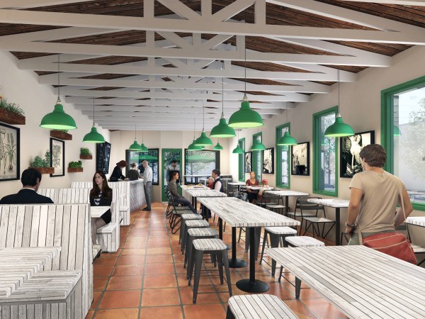 Pizza Motus interior rendering