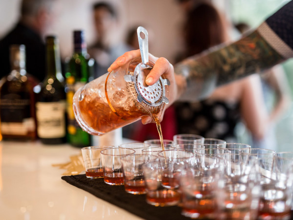 Straining cocktail Tastemaker Awards