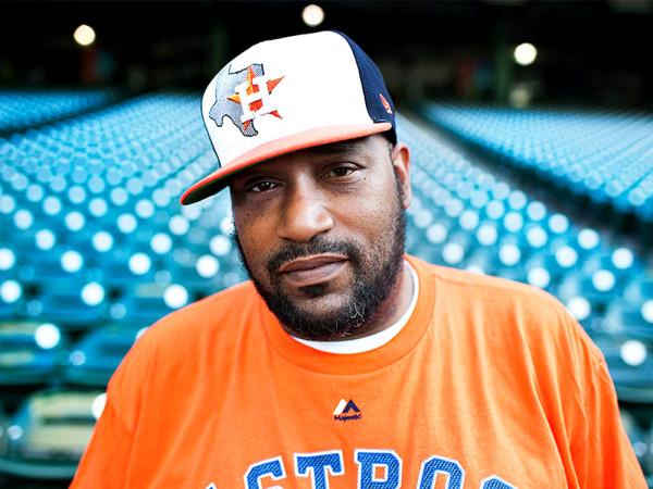 Bun B head shot hat stadium Houston Astros