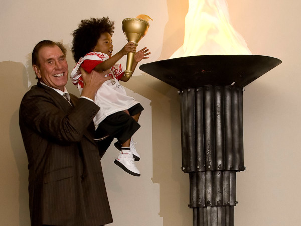 News-Surprises-Rudy Tomjanovich and Jessiah Williams Celebration of Champions