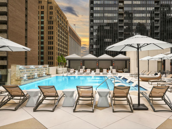 Pool at The Adolphus hotel
