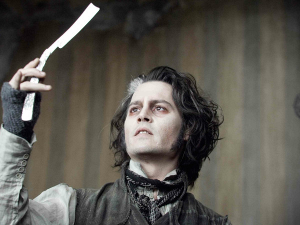 Johnny Depp in Sweeney Todd movie