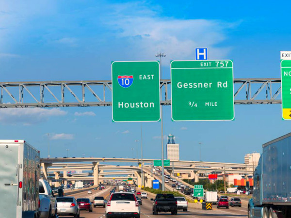 I-10 Houston freeway highway shot
