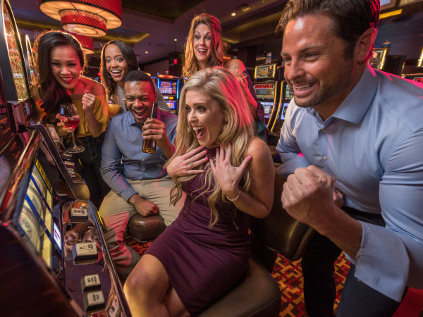 People winning at casino slots