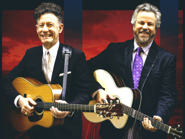 Lyle Lovett Robert Earl Keen guitars promo pic