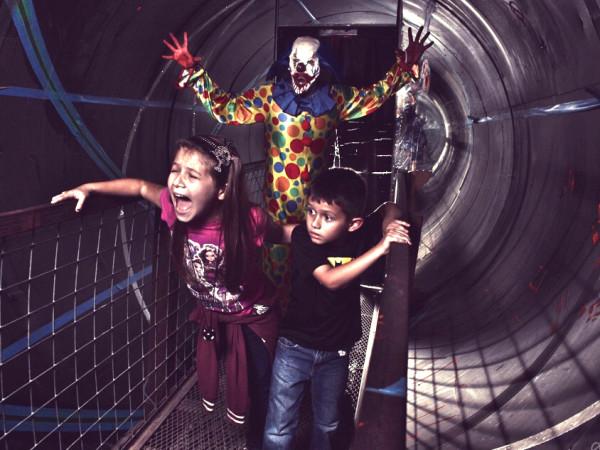ScreamFest scary clown chasing kids