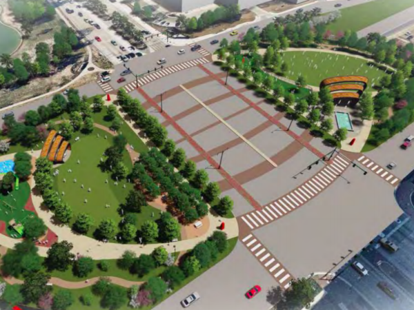 Rendering of proposed Legacy deck park in Plano