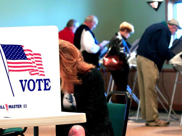 Houston Harris County voters voting booth