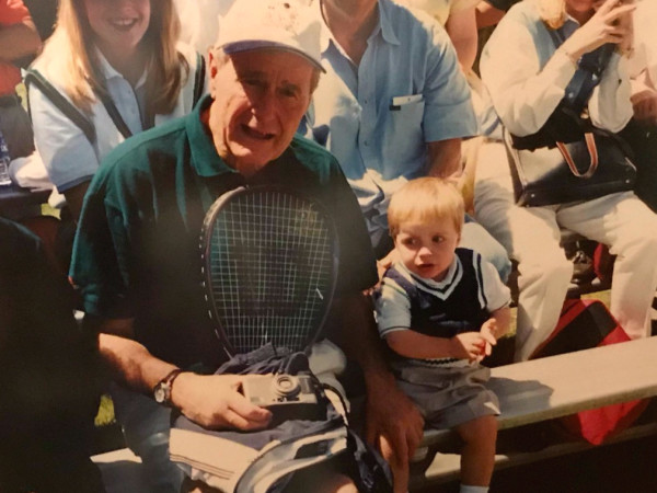 Ken Hoffman President Bush Andrew tennis racket