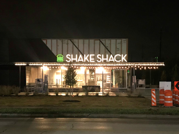Shake Shack Montrose exterior night