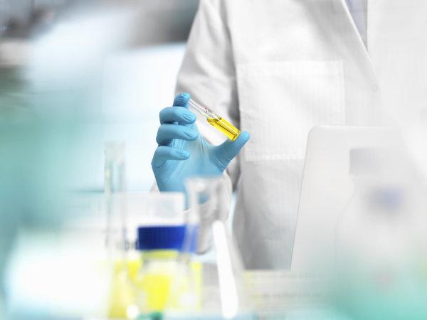 STEM research scientist lab gloves test tube vial