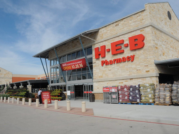 H-E-B grocery store pharmacy exterior