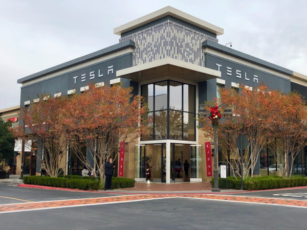 Tesla exterior showroom