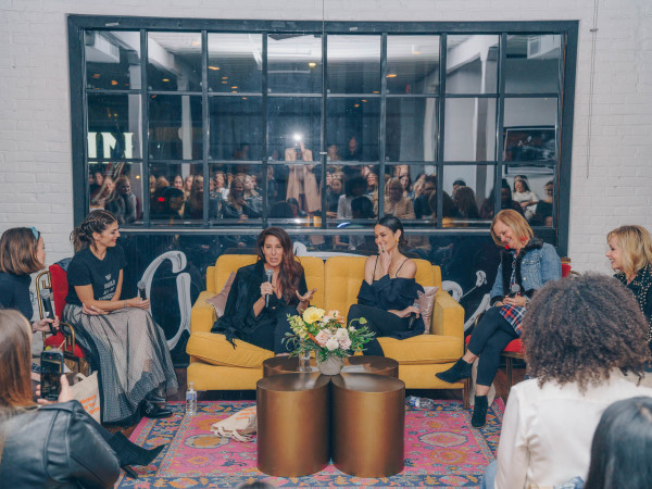 Bumble Understated Leather The Kindness Campaign VIP Event at Antone's Upstairs Alex Williamson Genevieve Padalecki Jennifer Kassell Nicole Trunfio Melinda Garvey Andra Liemandt