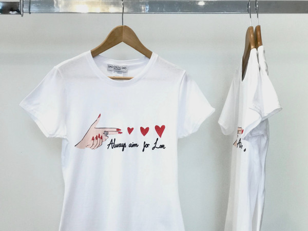 Chloe Dao Always Aim for Love t-shirt