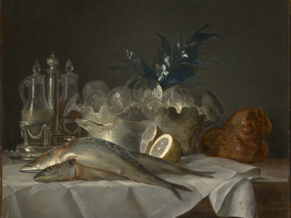 Anne Vallayer-Coster, Still Life with Mackerel, Kimbell Art Museum