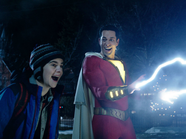 Jack Dylan Grazer and Zachary Levin in Shazam!