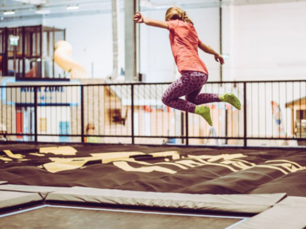 House of Air girl jumping trampoline