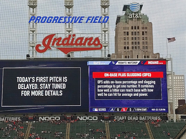 Ken Hoffman Cleveland Indians delay game