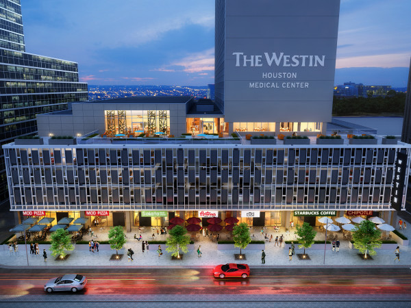 Medical Towers Westin Hotel rendering