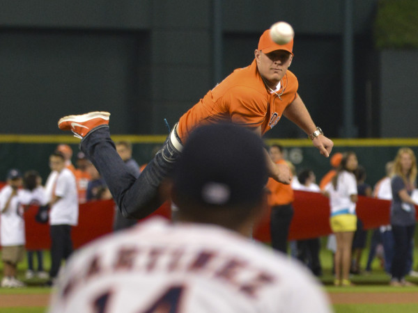 Astros opener J.J. Watt first pitch