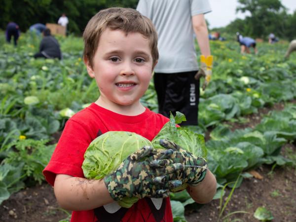 San Antonio Food Bank farming child