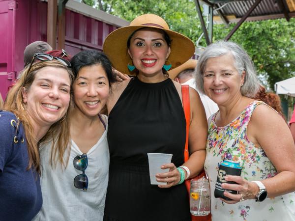 IHWSH father's day cookout Dr. Damla Karsan. Dr Lori Choi. Linda Salinas. Dr. Conchi Diaz-Arrastia