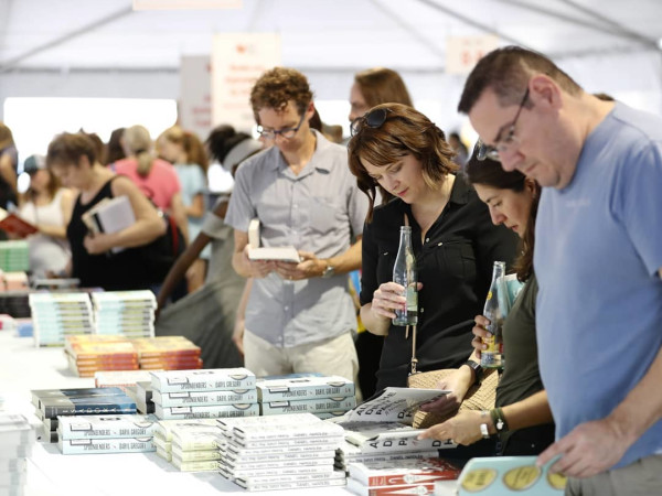 Texas Book Festival people reading