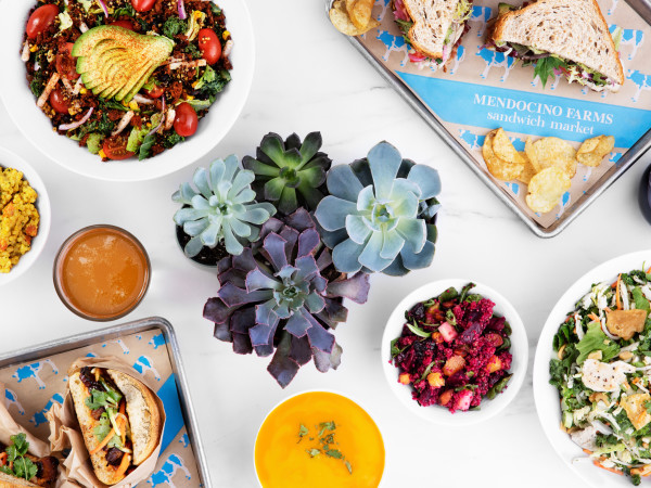 Mendocino Farms group food shot