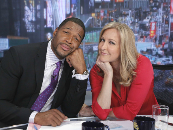 Michael Strahan Lara Spencer Good Morning America