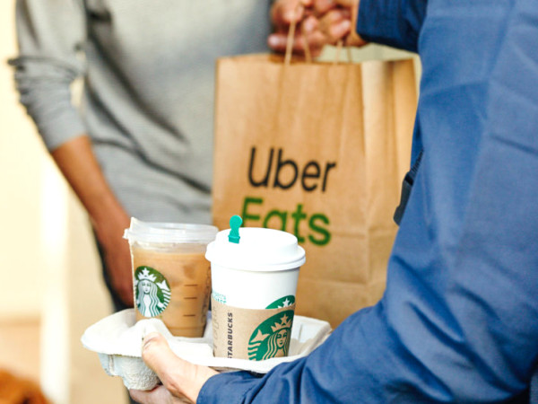 Starbucks Delivers Houston Uber Eats home delivery
