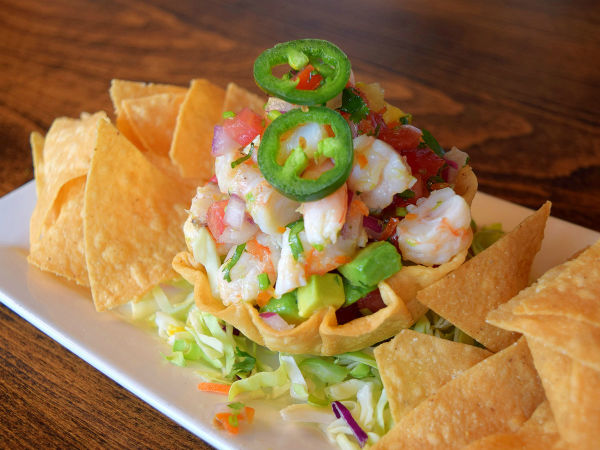 Thirsty Lion shrimp ceviche