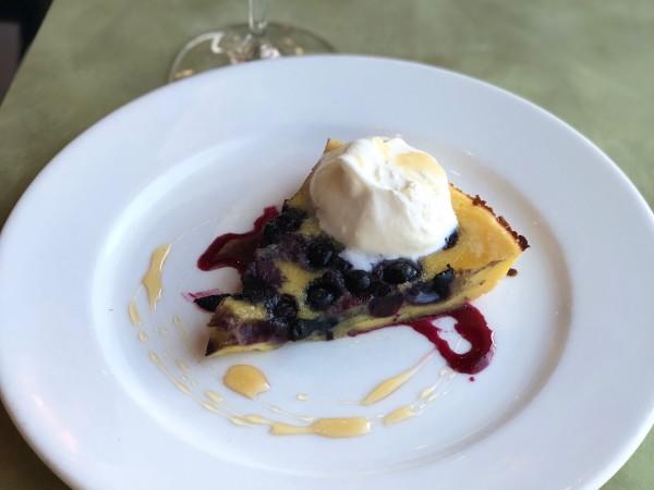Ellerbe blueberry clafoutis