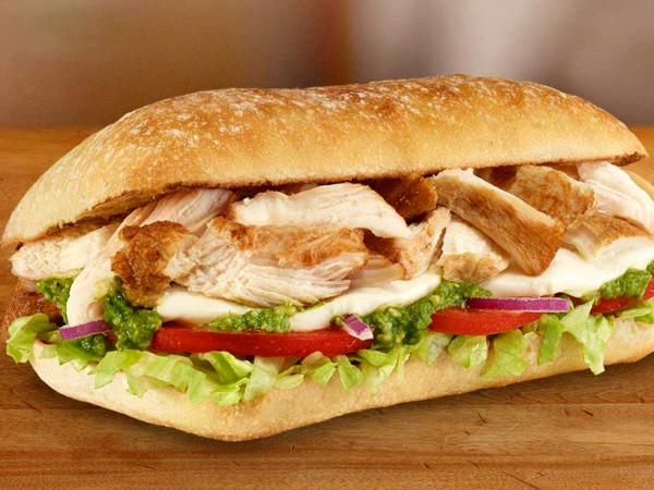 Subway Chicken Pesto Ciabatta Sub
