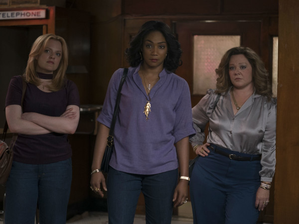 Elisabeth Moss, Tiffany Haddish, and Melissa McCarthy in The Kitchen
