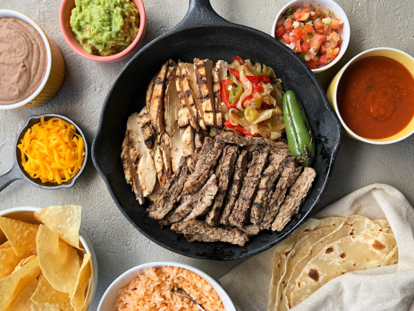 Fajitas Petes fajitas and sides