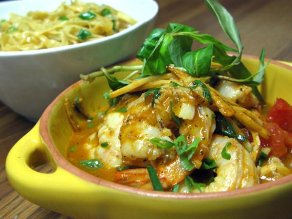 Mot Hai Ba, spicy shrimp