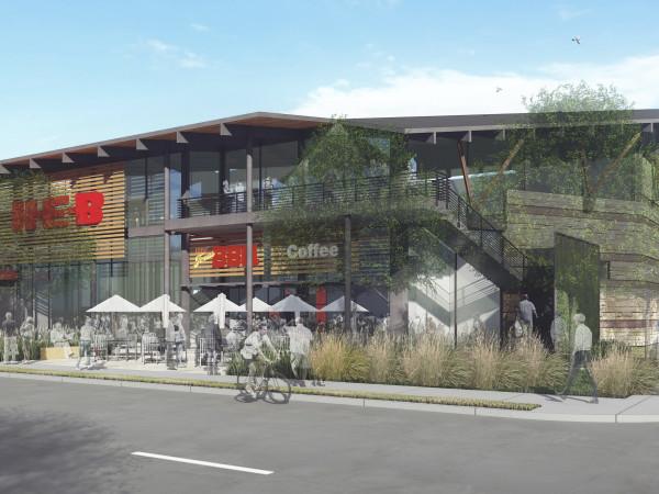 H-E-B rendering Exposition Boulevard