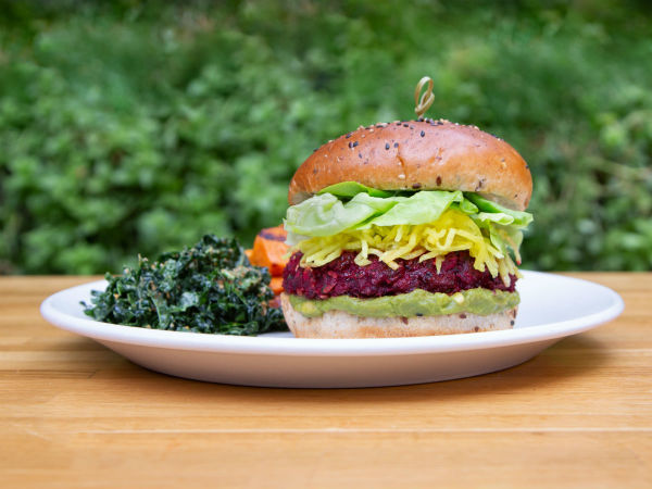 True Food kitchen beet burger