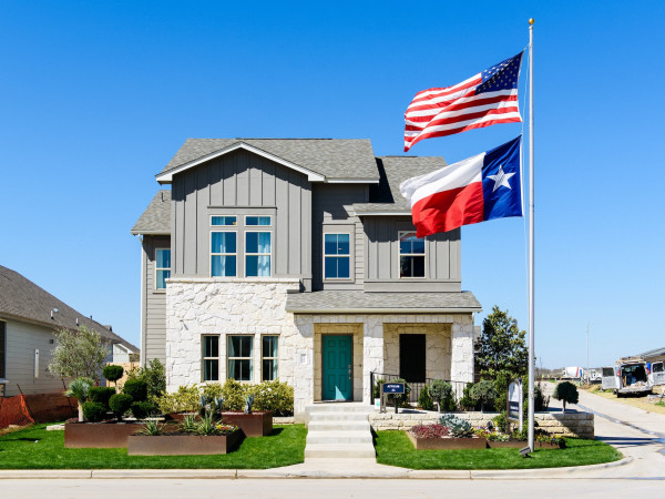 Goodnight Ranch southeast austin house for sale texas flag