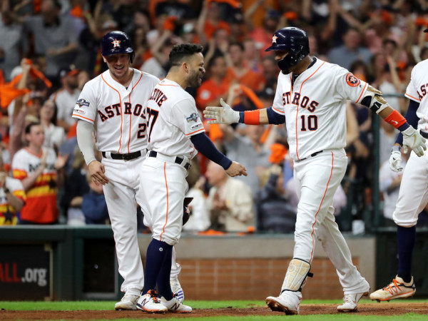 Houston Astros celebrating 2019