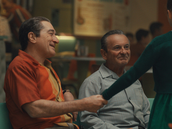 Robert De Niro and Joe Pesci in The Irishman
