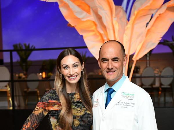 Illuminate the Night CMHH April and Dr. Jorge Salazar
