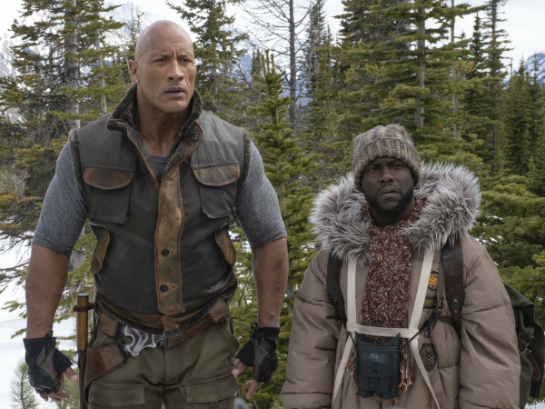 Dwayne Johnson and Kevin Hart in Jumanji: The Next Level