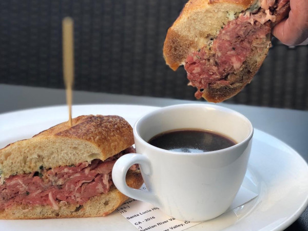 Guard and Grace prime rib French dip