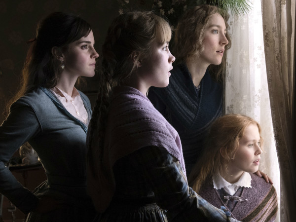 Emma Watson, Florence Pugh, Saoirse Ronan, and Eliza Scanlen in Little Women