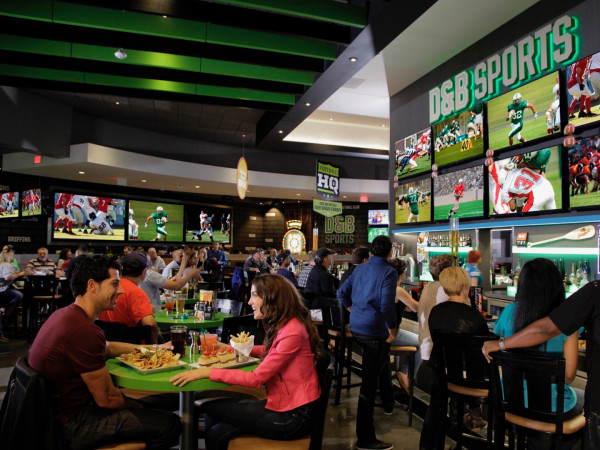 Dave and Buster's sports bar interior