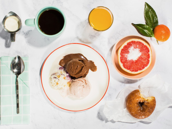 Jeni's Splendid Ice Creams breakfast
